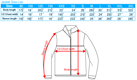 Men's Jackets & Coats Size Chart Most Belstaff garments come in Italian sizes. Please refer to the chart below for measurements and to convert your usual size to the correct Italian size.