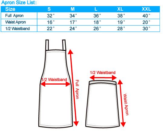 Apron Size Chart Singapore