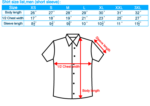 Measurement tables for standard sizes of shirts Please note that we always recommend that you take your own measurements, either from your body or a shirt you like. View in centimeters.