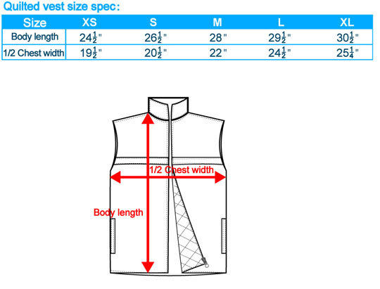 size-list-quilted vest-20100416