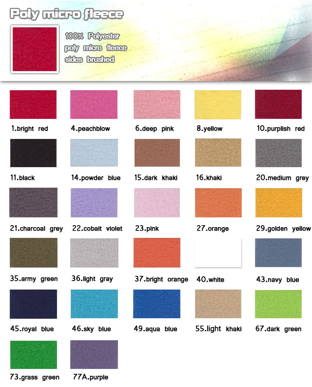 Fabric-100%-polyester-poly micro fleece sides brushed-poly micro fleece -20100330