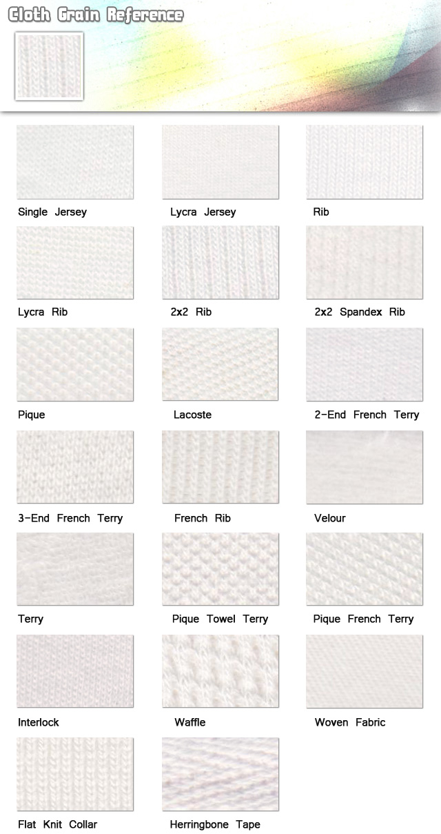 Fabric-cloth grain reference-fabric swatch name-20101023