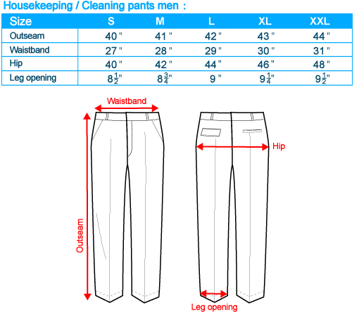 size-list-housekeeping cleaning pants-male-20110408
