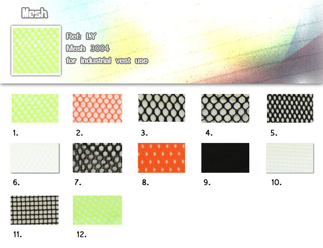 Fabric-LY-Mesh 3004-For industrial vest use-Mesh-20101010