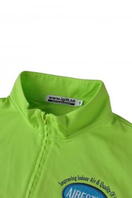 P493 green and white polo shirts