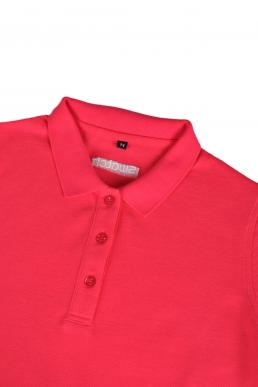 P497 pink polo for women