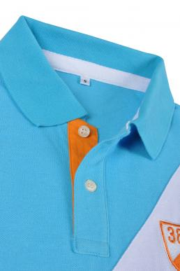 P501 white blue polo shirt