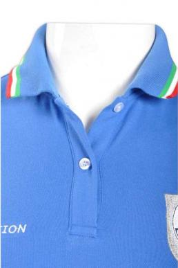P529 light blue cotton sports polo shirts