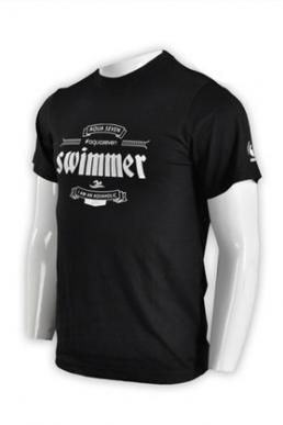 T593 Order online work black T-shirt