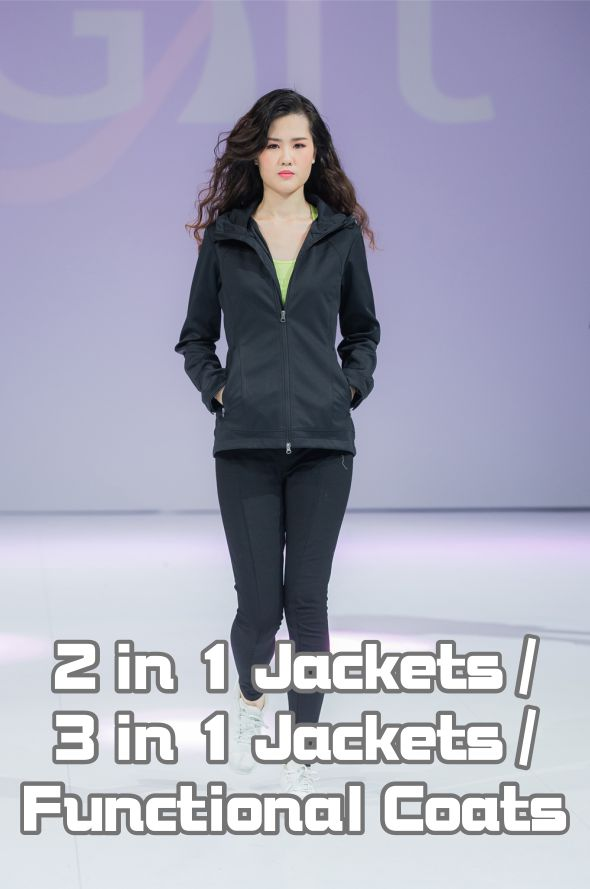 Model Show-2 in 1 Jackets / 3 in 1 Jackets / Funct