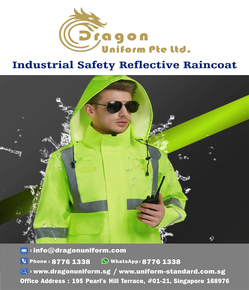 Industrial Safety Reflective Raincoat